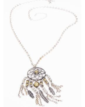 Shyanne Women's 2-Tone Dreamcatcher Necklace, Silver, hi-res