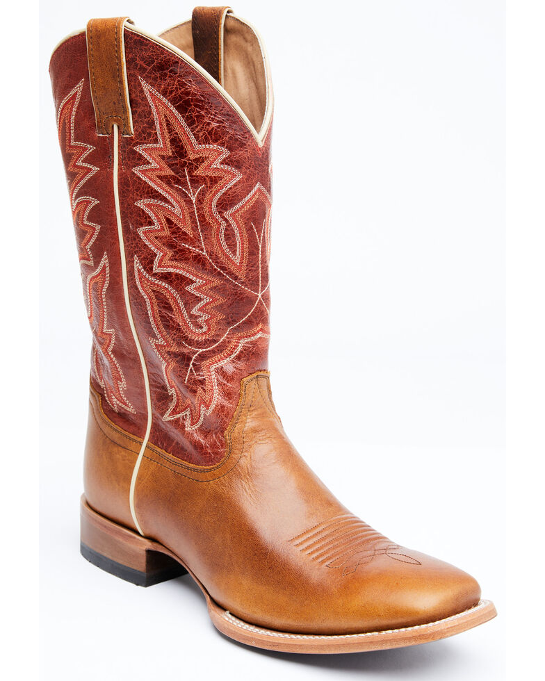 Cody James Men's Wittsburg Western Boots - Wide Square Toe, Natural, hi-res