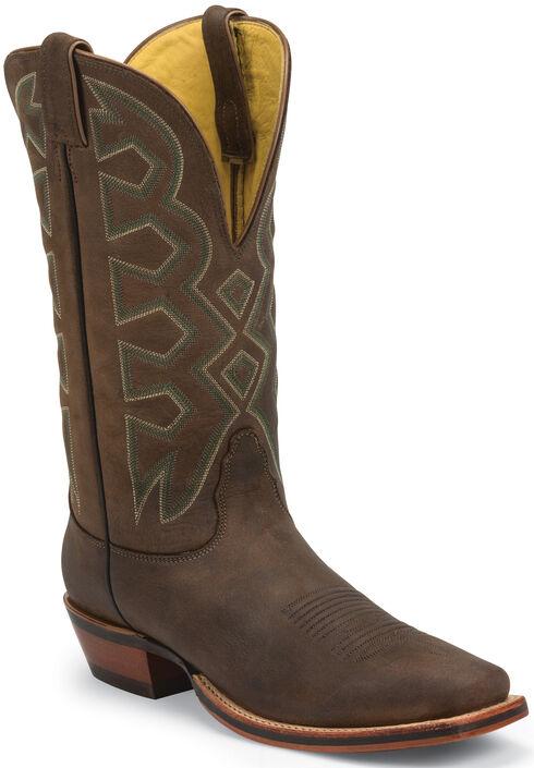 Nocona Sandlot Prosper Buffalo Let's Rodeo Western Boots - Square Toe , Brown, hi-res