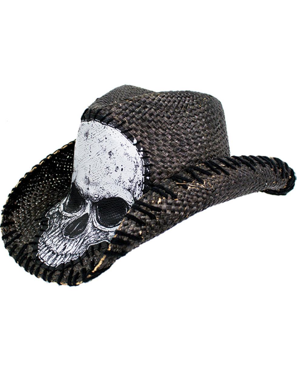 Peter Grimm Men's Tripp Straw Cowgirl Hat , Black, hi-res