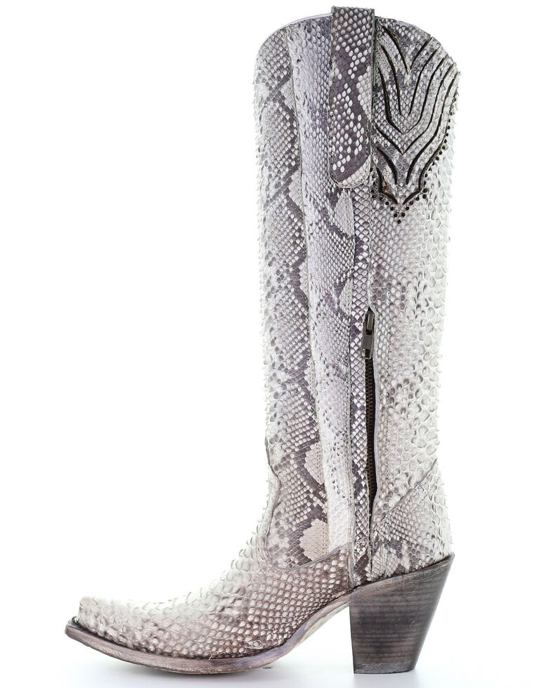 Corral Women's Python Tall Western Boots - Snip Toe, Python, hi-res