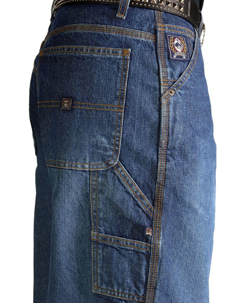 Cinch Men's Blue Vintage Label Utility Fit Tapered Loose Fit Jeans, Vintage, hi-res