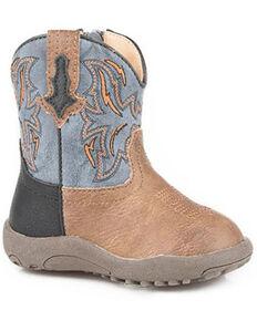 Roper Infant Boys' Dalton Poppet Boots - Round Toe, Tan, hi-res