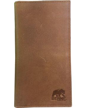Berne Men's Tan Genuine Leather Checkbook Wallet , Tan, hi-res
