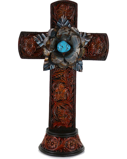 Gift Craft Western Style Polyresin Cross, No Color, hi-res