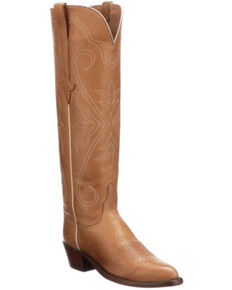 Lucchese Women's Saltillo Tall Western Boots - Round Toe, Rust Copper, hi-res