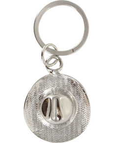 Cody James Cowboy Hat Keychain, Silver, hi-res