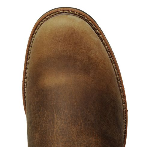 Justin J-Max Pull-On Western Work Boots - Soft Toe, Tan, hi-res