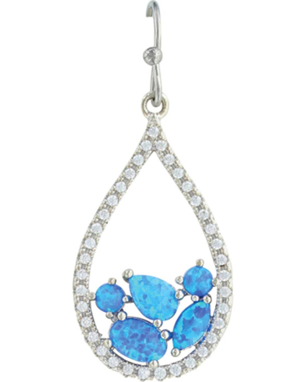 Montana Silversmiths Women's River Of Lights Tumbled Stones Teardrop Earrings , Silver, hi-res