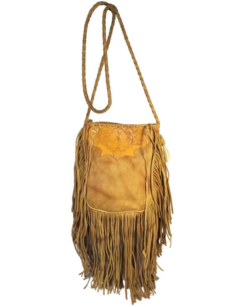 Kobler Leather Women's Tooled Pouch Crossbody Bag, Beige/khaki, hi-res