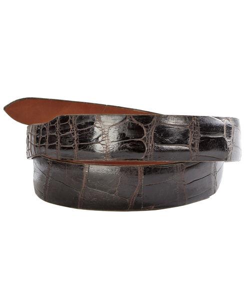 Lucchese Men's Cigar Alligator Leather Belt, Cigar, hi-res