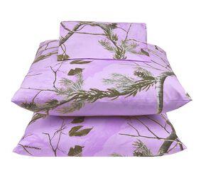 Realtree Lavender Camo Queen Sheet Set, Camouflage, hi-res