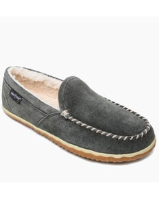 Minnetonka Men's Grey Tilden Slippers - Moc Toe, Grey, hi-res