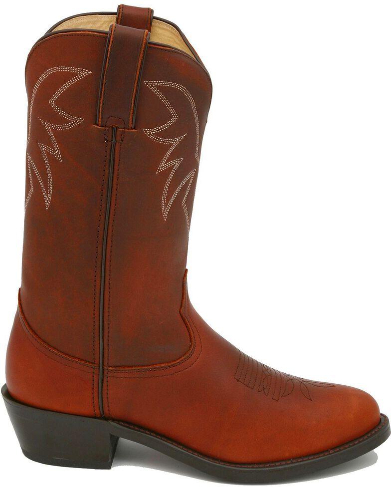 Durango Men's Oiled Leather Pull-On Western Boots - Medium Toe, Chocolate, hi-res