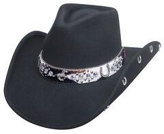 Bullhide Crazy Horse Hat, Black, hi-res