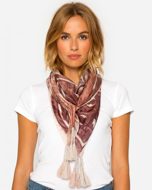 Johnny Was Women's Silk Plate Scarf, Multi, hi-res