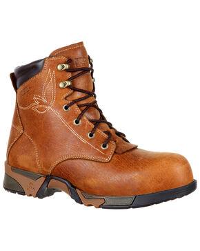 """Rocky Women's Aztec Waterproof 6"""" Work Boots - Composite Toe, Brown, hi-res"""