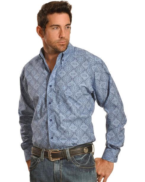 Ariat Pro Series Joel Print Classic Fit Western Shirt, Sky, hi-res