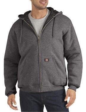 Dickies Heavyweight Quilted Fleece Zip-Up Hoodie, Dark Grey, hi-res