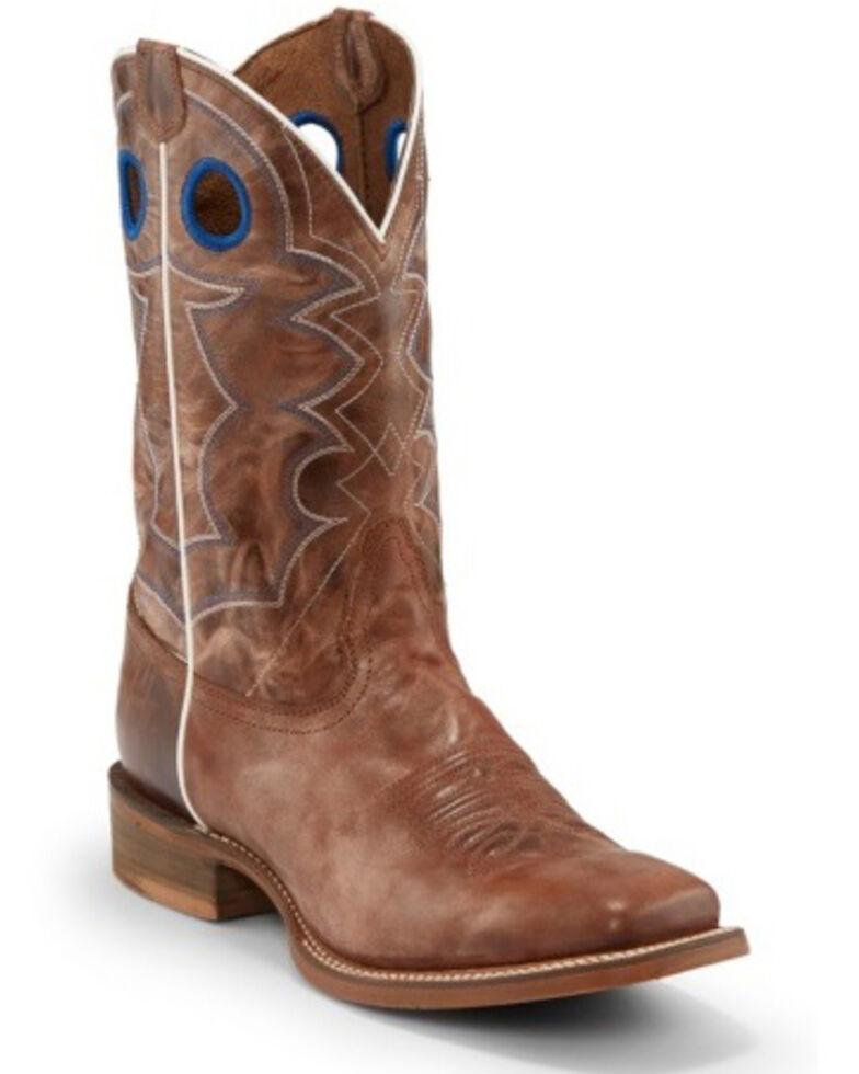 Nocona Men's Go Round Tan Western Boots - Wide Square Toe, Brown, hi-res