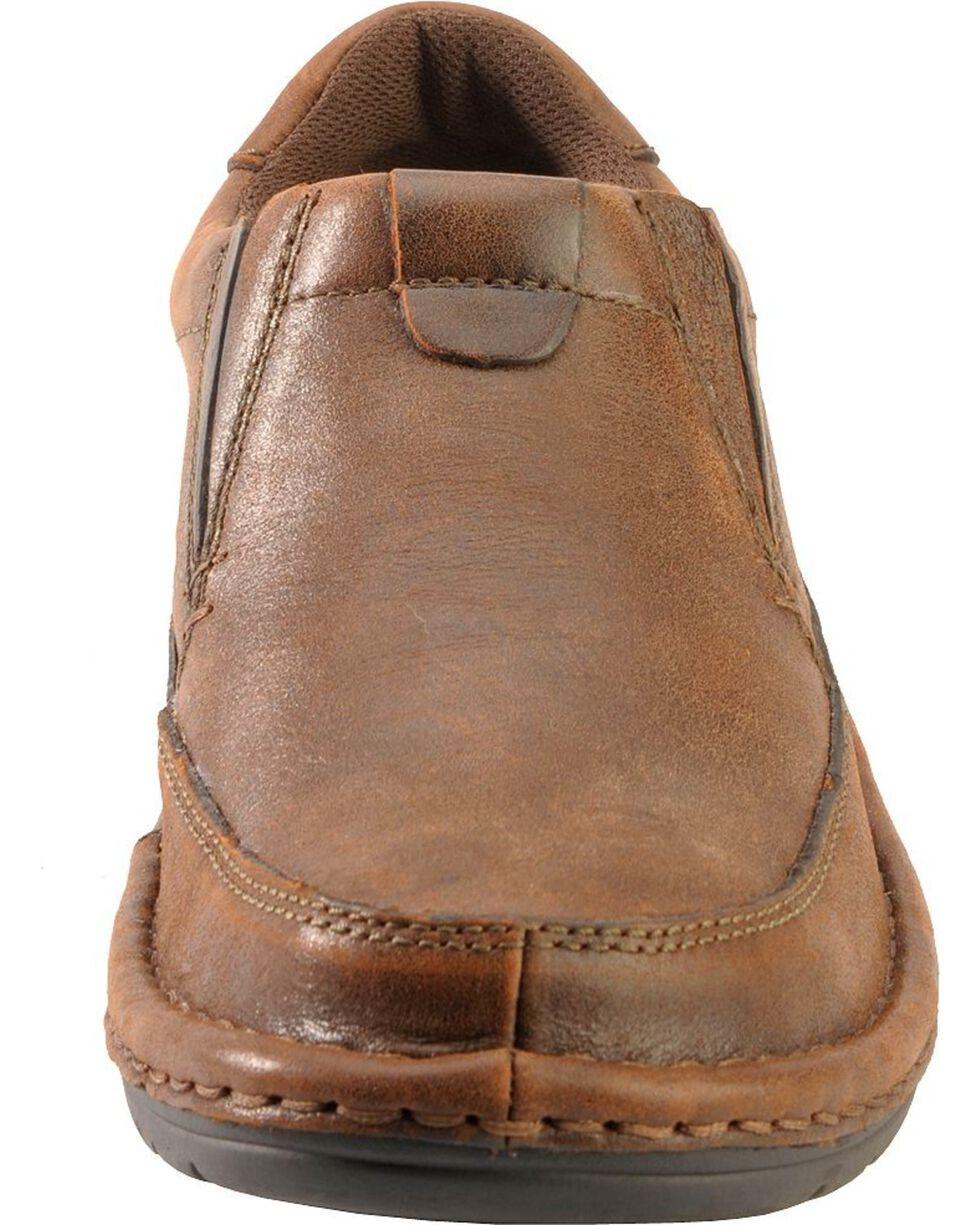 Roper Nubuck Opanka Slip-On Shoes, Brown, hi-res