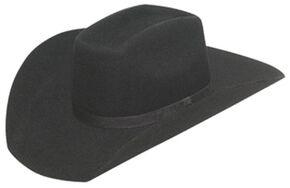 Twister Kids' Wool Flat Bow Hat, Black, hi-res