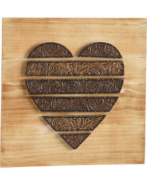BB Ranch Filigree Heart Wall Décor , Brown, hi-res