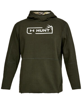 Under Armour Men's Green Rival Hunt Icon Hoodie , Green, hi-res