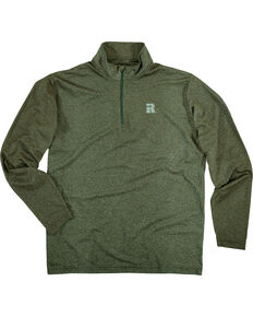 Wrangler Men's Olive Riggs Workwear 1/4 Zip Pullover Shirt - Big & Tall , Olive, hi-res