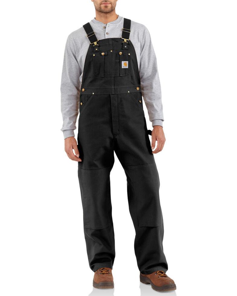 Carhartt Duck Bib Overalls, Black, hi-res