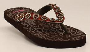 Blazin Roxx Women's Marissa Flip Flops, Brown, hi-res