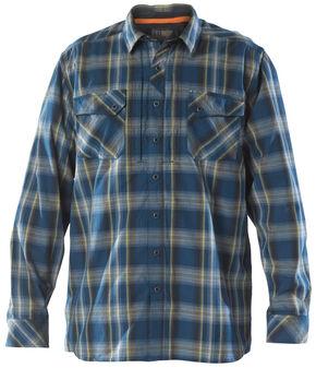 5.11 Tactical Men's Flannel Shirt, Blue, hi-res