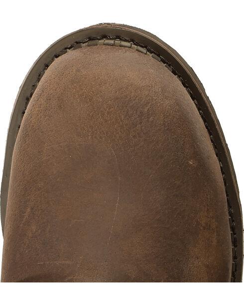 "American Worker Men's 6"" Steel Toe Work Boot, Dark Brown, hi-res"