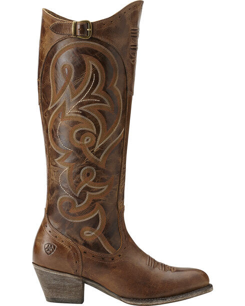 Ariat Wanderlust Tall Cowgirl Riding Boots - Medium Toe, Brown, hi-res