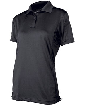 Tru-Spec Women's 24-7 Series Short Sleeve Eco Tec Polo , Black, hi-res