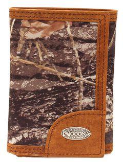 Nocona Mossy Oak Logo Concho Tri-fold Wallet, Mossy Oak, hi-res