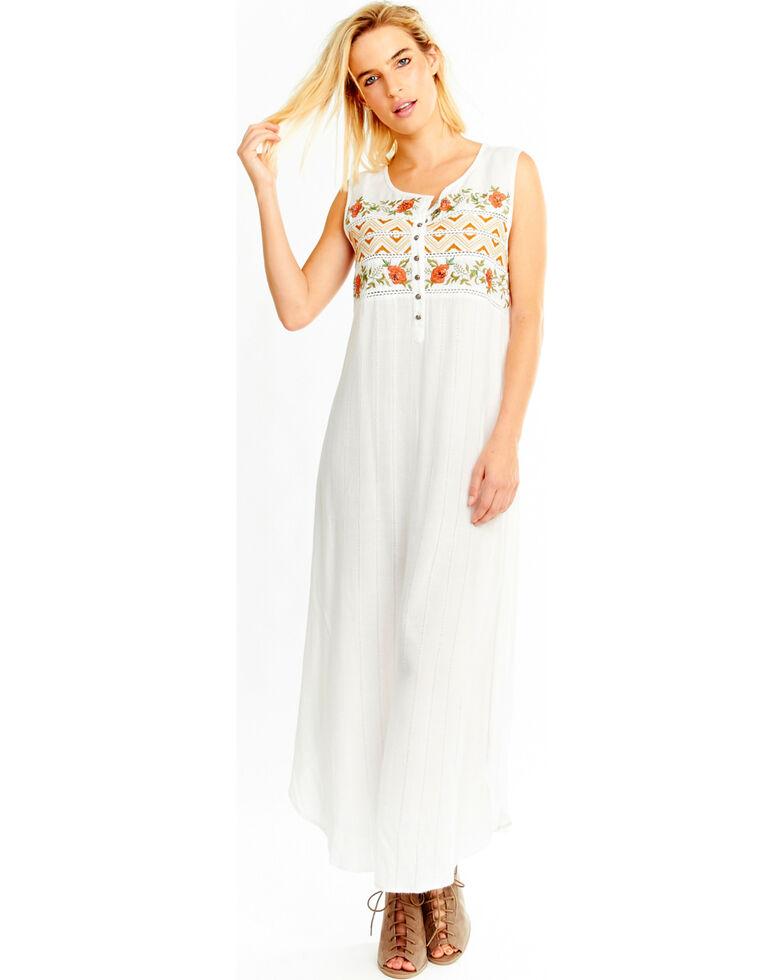 aratta womens white garden party maxi dress white hi res