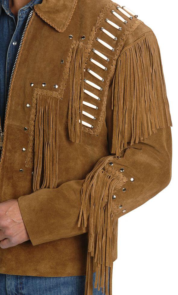 Liberty Wear Bone Fringed Leather Jacket - Big & Tall, Tobacco, hi-res