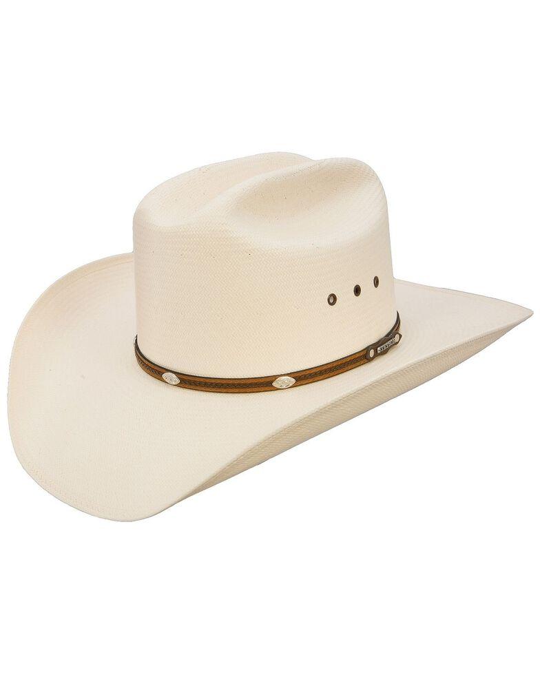 Stetson Men's Alamo 8X Shantung Straw Cowboy Hat, Natural, hi-res