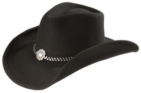 Bullhide Concho Wool Cowgirl Hat, Black, hi-res