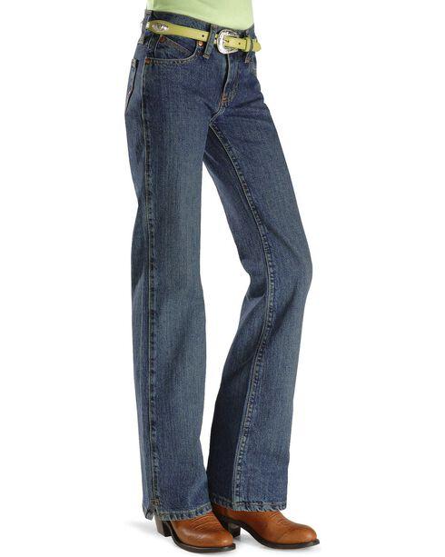 Girls' Wrangler Ultimate Riding Jeans - Reg/Slim 7-14, Am Spirit, hi-res