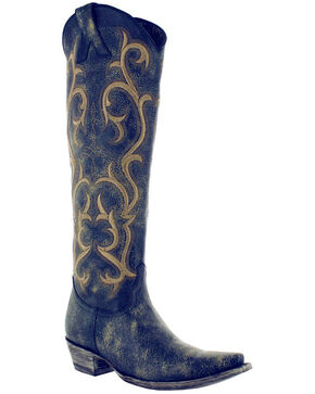Old Gringo Women's Blue Dolly Mayra Tall Boots - Snip Toe , Blue, hi-res