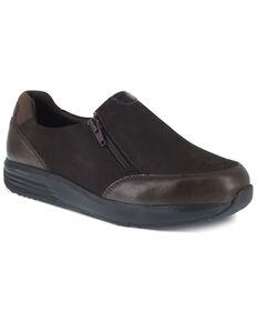 Reebok Women's Brown Trustride Slip Resisting Work Boots - Steel Toe, Dark Brown, hi-res