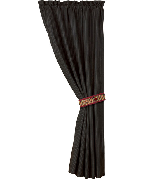 HiEnd Accents Bayfield Curtain, Black, hi-res