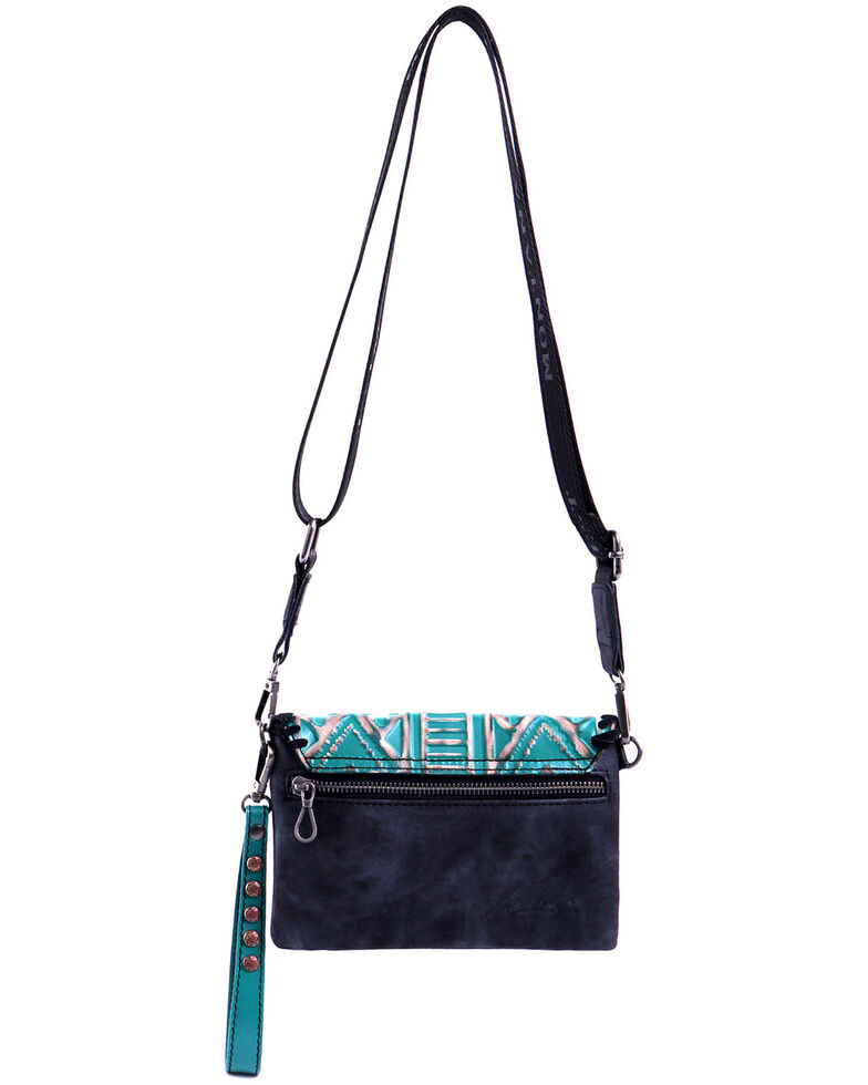 Montana West Women's Shiloh Aztec Crossbody Bag, Black, hi-res