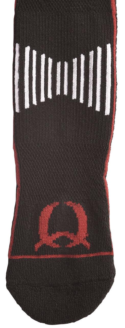 Cinch Men's Black and Red Boot Socks , Black, hi-res