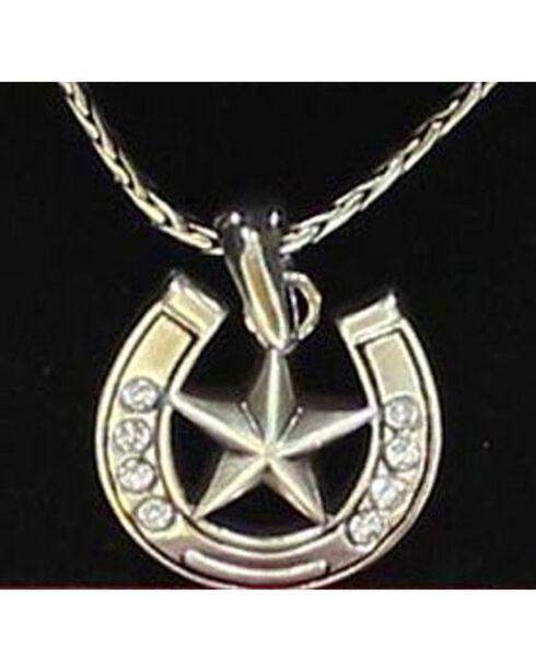 Lightning Ridge Embellished Horsehoe & Star Charm Necklace Set, Multi, hi-res