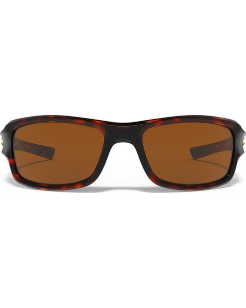 Under Armour Women's Edge Shiny Tortoise Sunglasses, Brown, hi-res