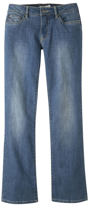Mountain Khakis Women's Genevieve Boot Cut Jeans - Long, Blue, hi-res