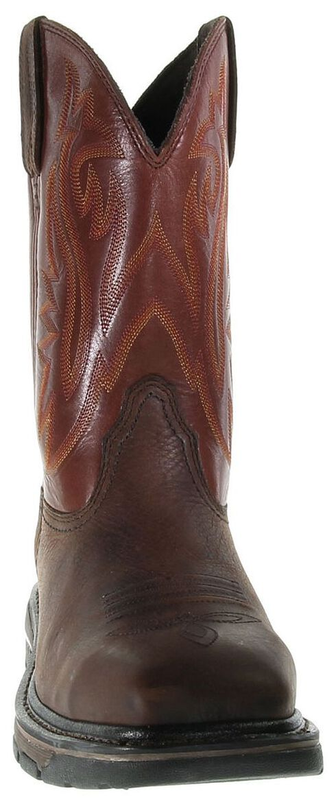Wolverine Javelina Pull-On Work Boots - Steel Toe, Dark Brown, hi-res